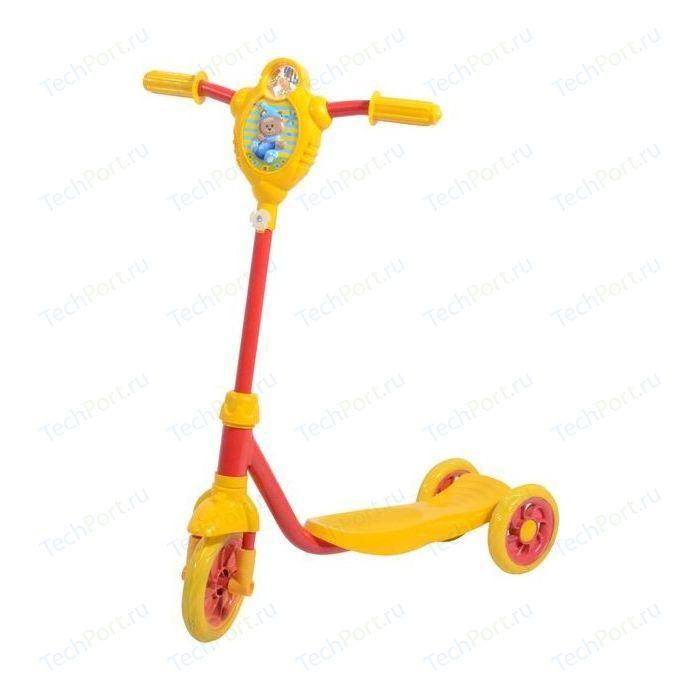 Самокат городской FOXX Baby с пластиковой платформой и EVA колеса ми 115мм, желто-красный (115BABY.YRD7)