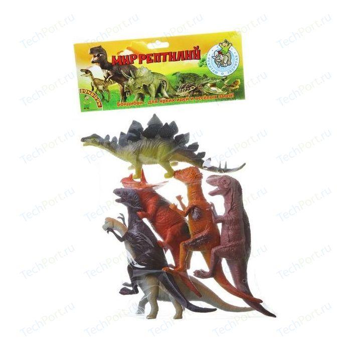 Bondibon Набор животных Ребятам о Зверятах, динозавры, 8-10, 6 шт. (ВВ1617) набор раскраска с палитрой динозавры вв1845