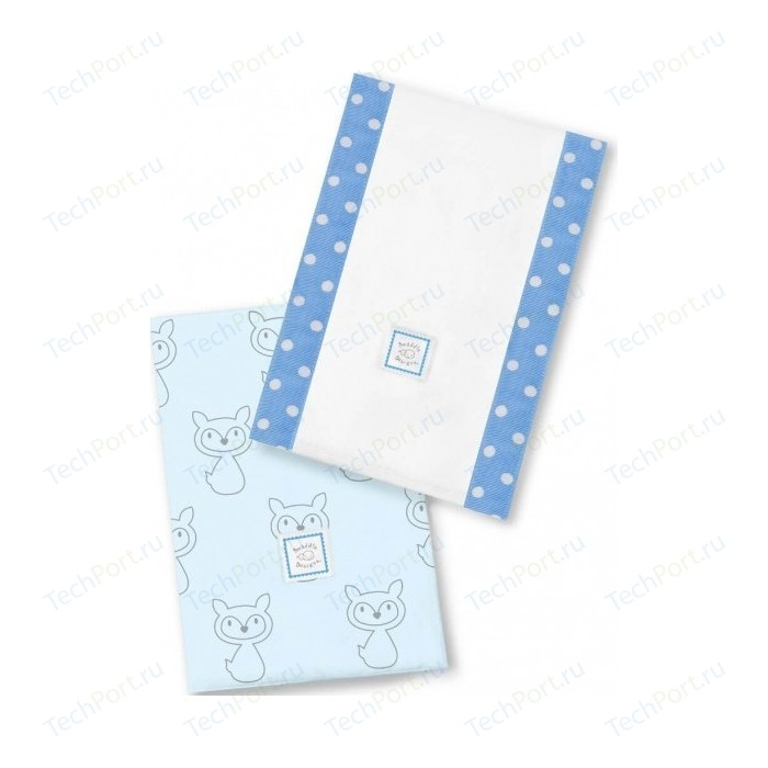 Полотенчики SwaddleDesigns Baby Burpie Set Blue Gray Fox (SD-613B)