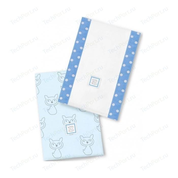 Полотенчики SwaddleDesigns Baby Burpie Set Blue Gray Fox (SD-613B) текстильные салфетки swaddledesigns полотенчики baby burpie gray doggie