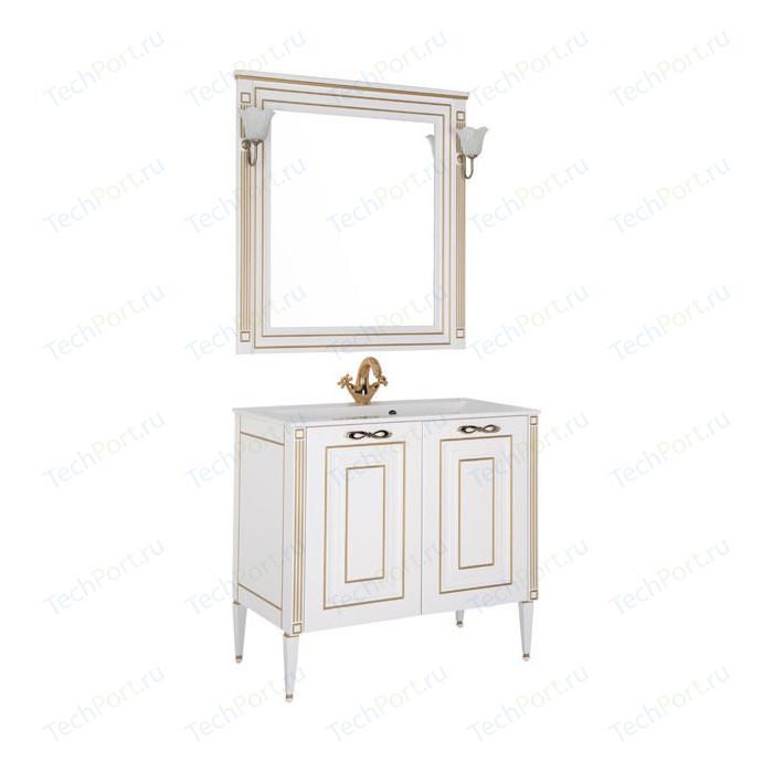 Мебель для ванной Aquanet Паола 90 белый/золото