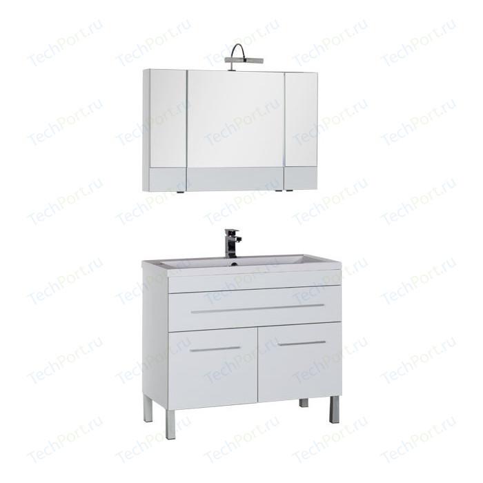 Мебель для ванной Aquanet Верона 100 с дверцами и ящиком, белый