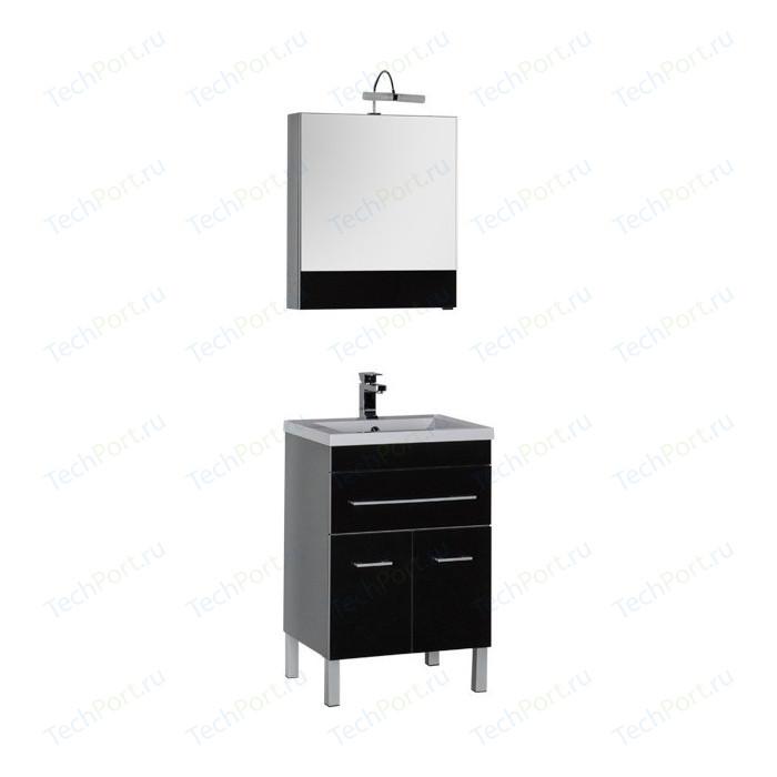 Мебель для ванной Aquanet Верона 58 с дверцами и ящиком, черный