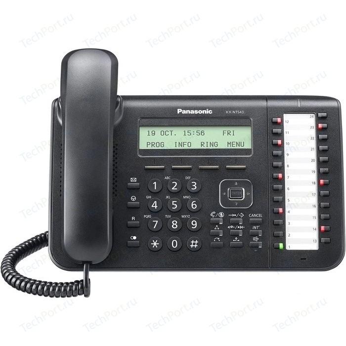 IP телефон Panasonic KX-NT543RUB телефон ip panasonic kx hdv230rub черный