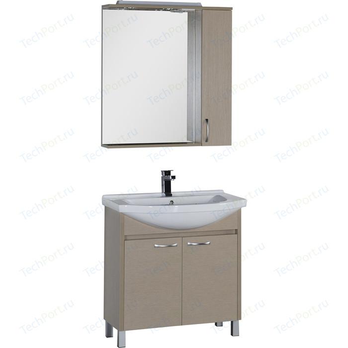 Мебель для ванной Aquanet Донна 80 светлый дуб тумба с раковиной aquanet донна 80 светлый дуб 168931 1wh109653