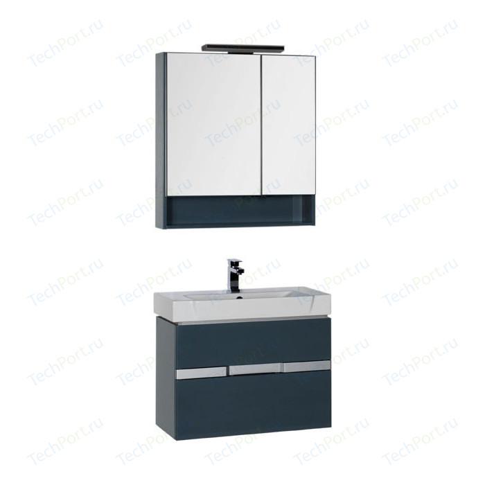 Мебель для ванной Aquanet Виго 80 сине-серый