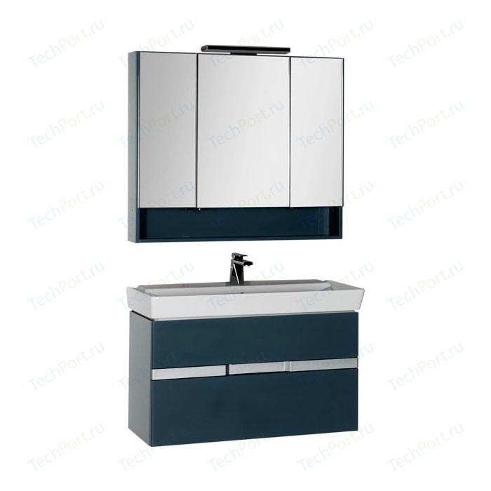 Мебель для ванной Aquanet Виго 100 сине-серый