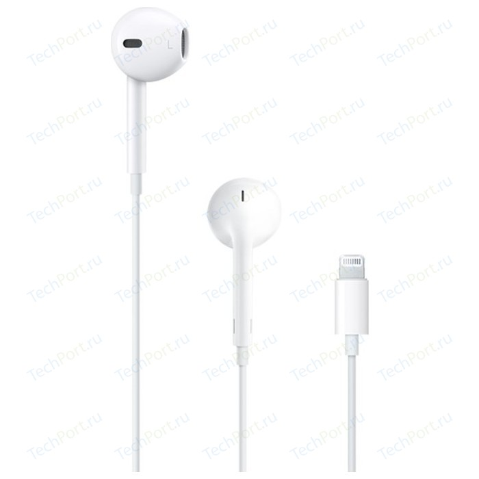 Наушники Apple EarPods lightning (MMTN2ZM/A) apple earpods md827zm a белый