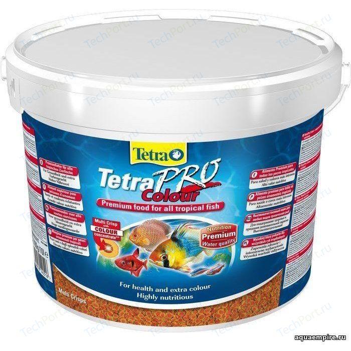 Корм Tetra TetraPro Colour Crisps Premium Food for All Tropical Fish чипсы усиление окраски для всех видов тропических рыб 10л (140516)