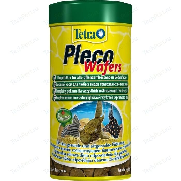 Корм Tetra Pleco Wafers Complete Food for Herbivorous Bottom-feeding Fish пластинки для всех видов травоядных донных рыб 250мл (199118)