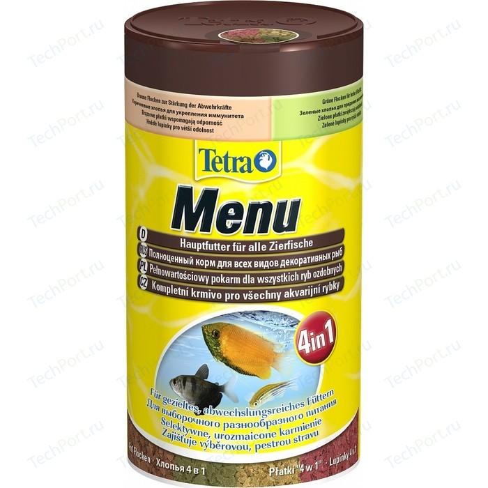 Корм Tetra Menu 4 in 1 Flakes Complete Food for All Ornamental Fish хлопья вида для всех видов декоративных рыб 250мл (767393)