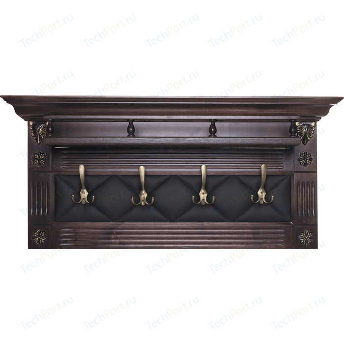 Вешалка в прихожую Мебелик Сильвия Н5 эко-кожа кор/темно-коричневый