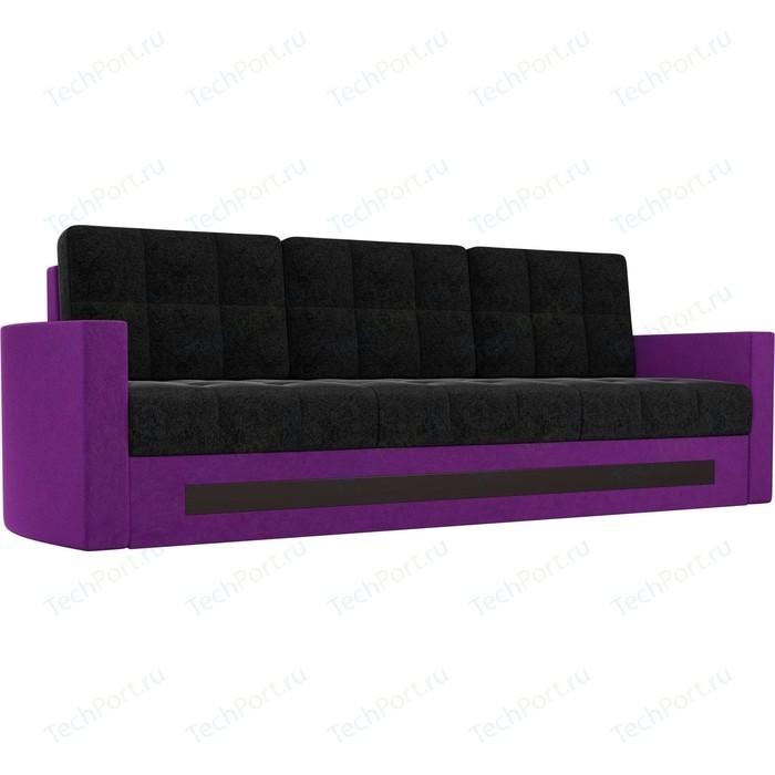 Диван АртМебель Белла микровельвет черно-фиолетовый