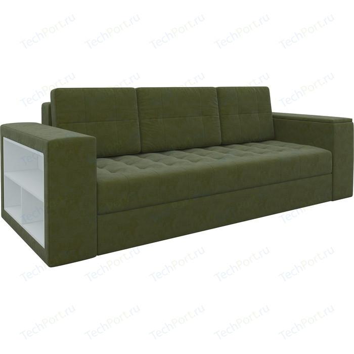 Фото - Диван-еврокнижка Мебелико Пазолини микровельвет зеленый диван еврокнижка мебелико пазолини микровельвет зелено бежевый