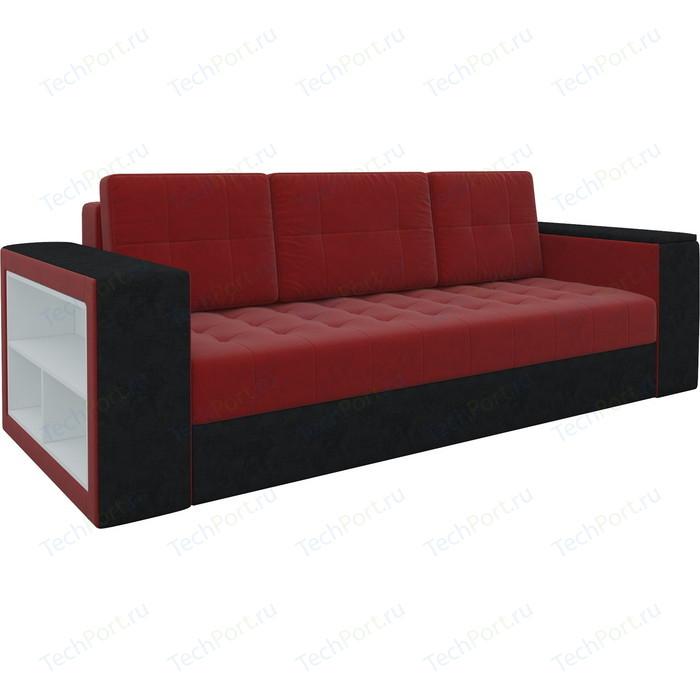 Фото - Диван-еврокнижка Мебелико Пазолини микровельвет красно-черный диван еврокнижка мебелико пазолини микровельвет зелено бежевый