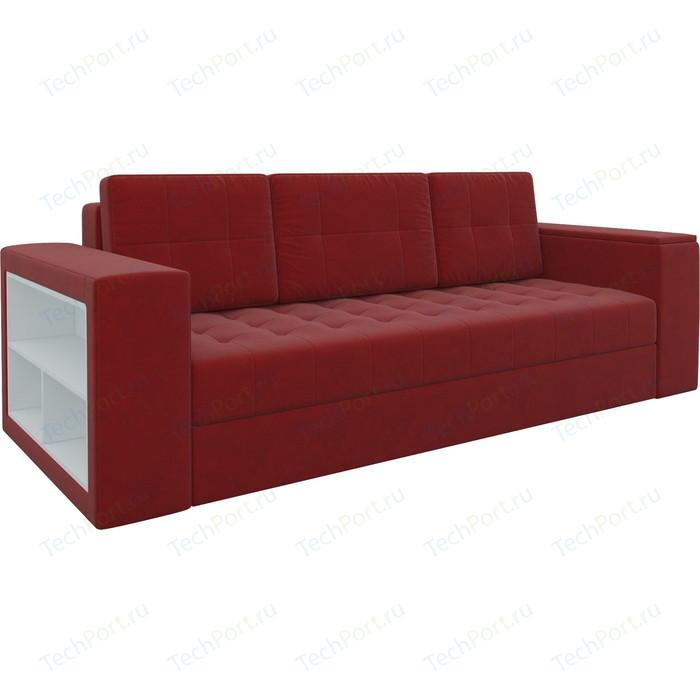 Фото - Диван-еврокнижка Мебелико Пазолини микровельвет красный диван еврокнижка мебелико пазолини микровельвет зелено бежевый