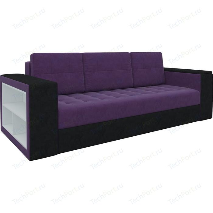 Фото - Диван-еврокнижка Мебелико Пазолини микровельвет фиолетово-черный диван еврокнижка мебелико пазолини микровельвет зелено бежевый