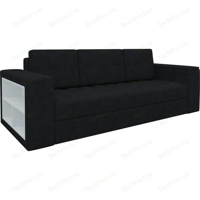 Фото - Диван-еврокнижка Мебелико Пазолини микровельвет черный диван еврокнижка мебелико пазолини микровельвет зелено бежевый