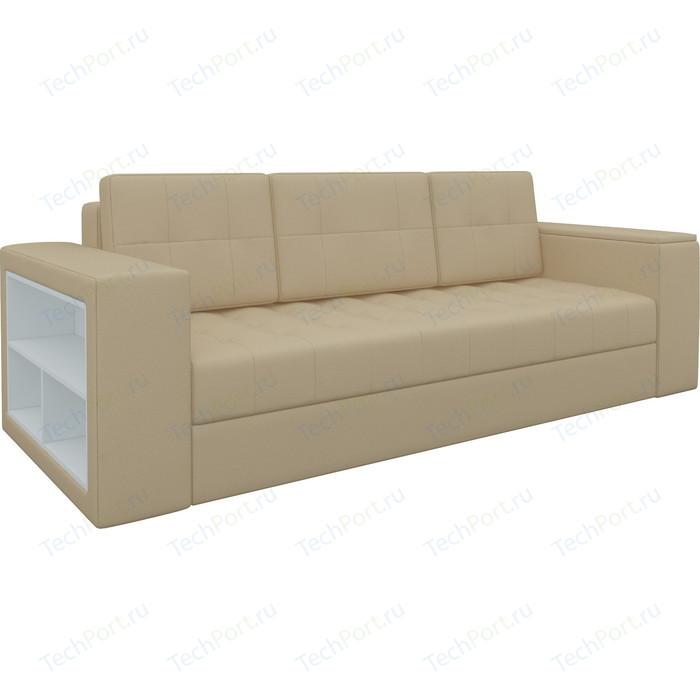 Фото - Диван-еврокнижка Мебелико Пазолини эко-кожа бежевый диван еврокнижка мебелико пазолини микровельвет зелено бежевый