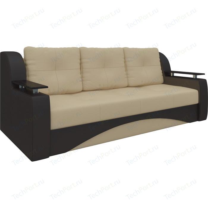 Фото - Диван-еврокнижка Мебелико Сенатор НПБ эко-кожа бежево-коричневый диван угловой арт мебель сенатор нпб эко кожа бежево коричн левый