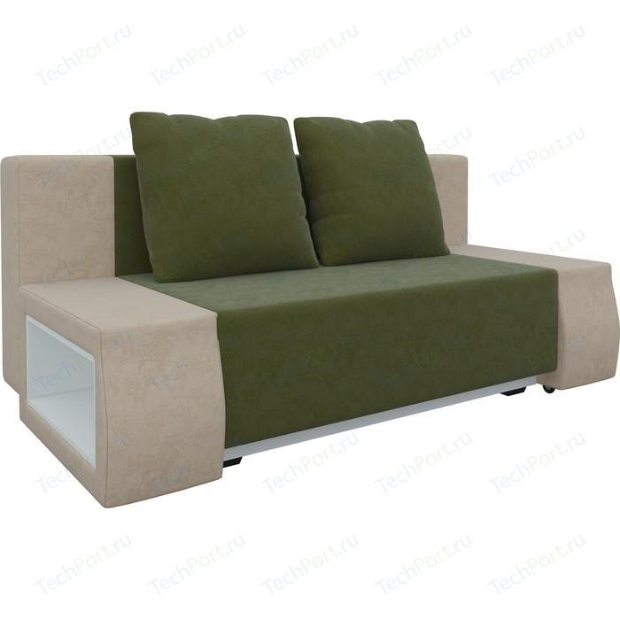 Фото - Диван-еврокнижка Мебелико Чарли люкс микровельвет зелено-бежевый диван еврокнижка мебелико пазолини микровельвет зелено бежевый