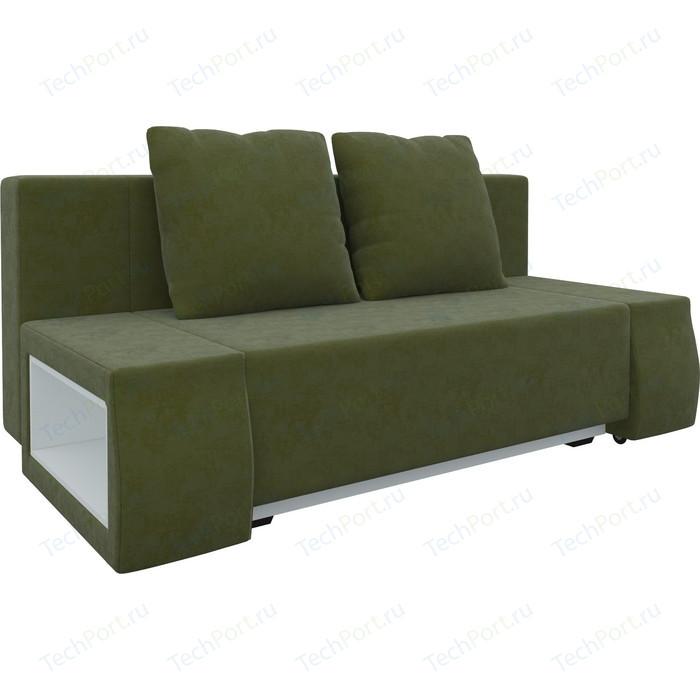 Диван-еврокнижка АртМебель Чарли люкс микровельвет зеленый диван еврокнижка артмебель чарли люкс микровельвет фиолетовый