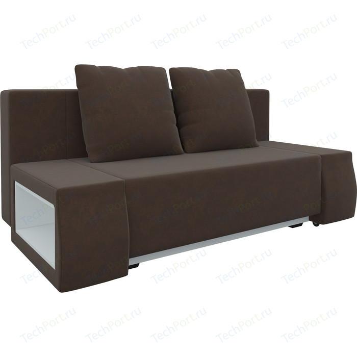 Диван-еврокнижка Мебелико Чарли люкс микровельвет коричневый