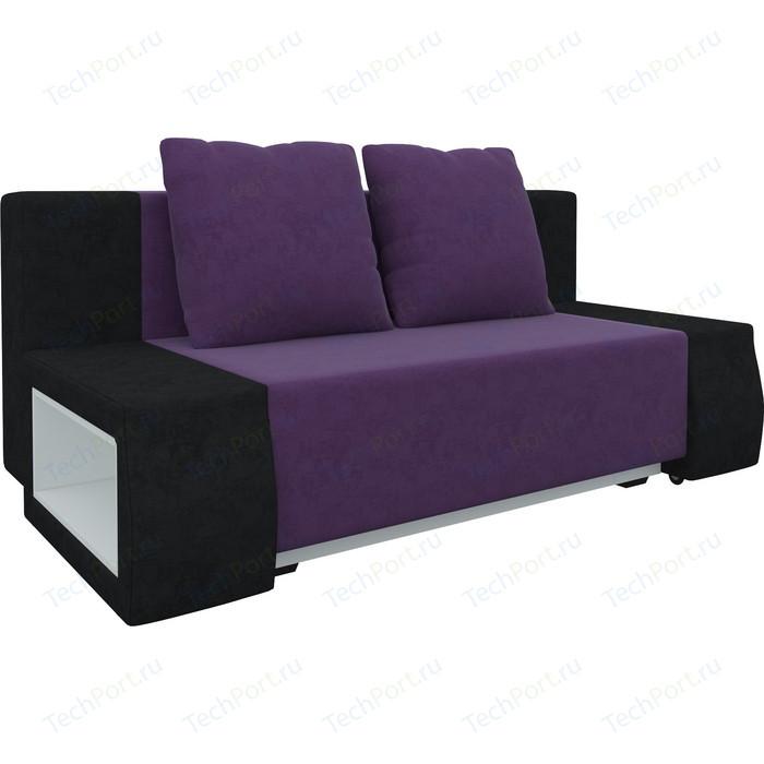 Диван-еврокнижка АртМебель Чарли люкс микровельвет фиолетово-черный диван еврокнижка артмебель чарли люкс микровельвет фиолетовый