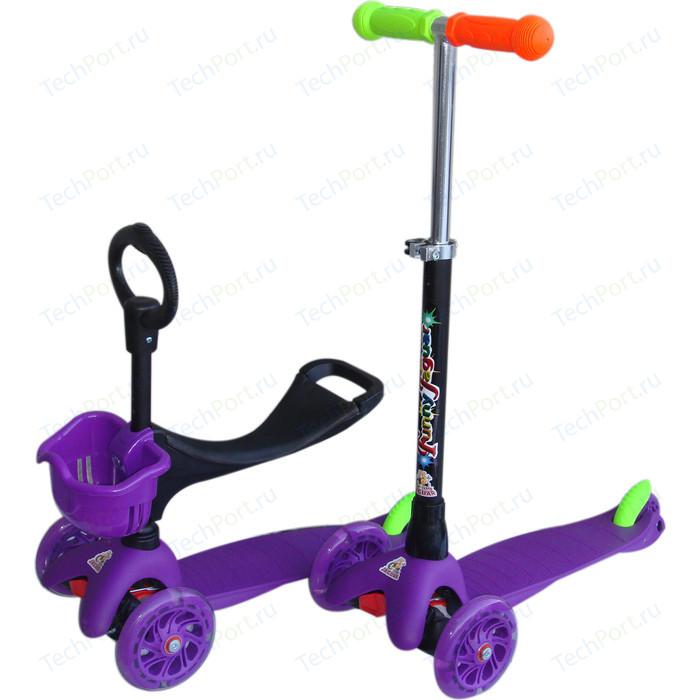 Самокат 3-х колесный Funny Scoo Neo (MS-920) фиолетовый