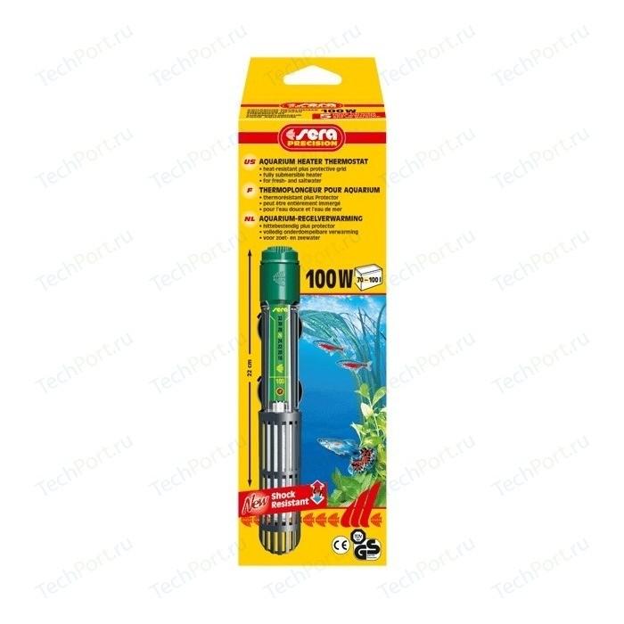 цены Нагреватель SERA PRECISION 100W Aquarium Heater Thermostat Protective Grid с защитной сеткой регулируемый для воды в аквариуме 100вт
