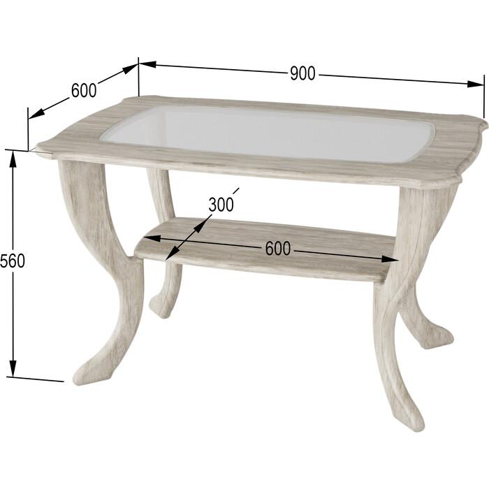 Стол журнальный Калифорния мебель Маэстро со стеклом СЖС-01 Дуб стол журнальный калифорния мебель юпитер со стеклом дуб сонома