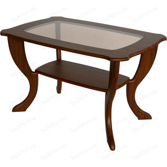 Стол журнальный Калифорния мебель Маэстро со стеклом СЖС-01 Орех стол журнальный калифорния мебель маэстро сжс 02 со стеклом дуб венге