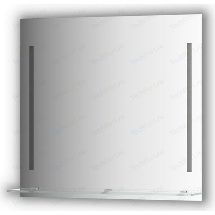 Зеркало с полкой Evoform Ledline-S 2-мя светильниками 11 W 80x75 см (BY 2164)
