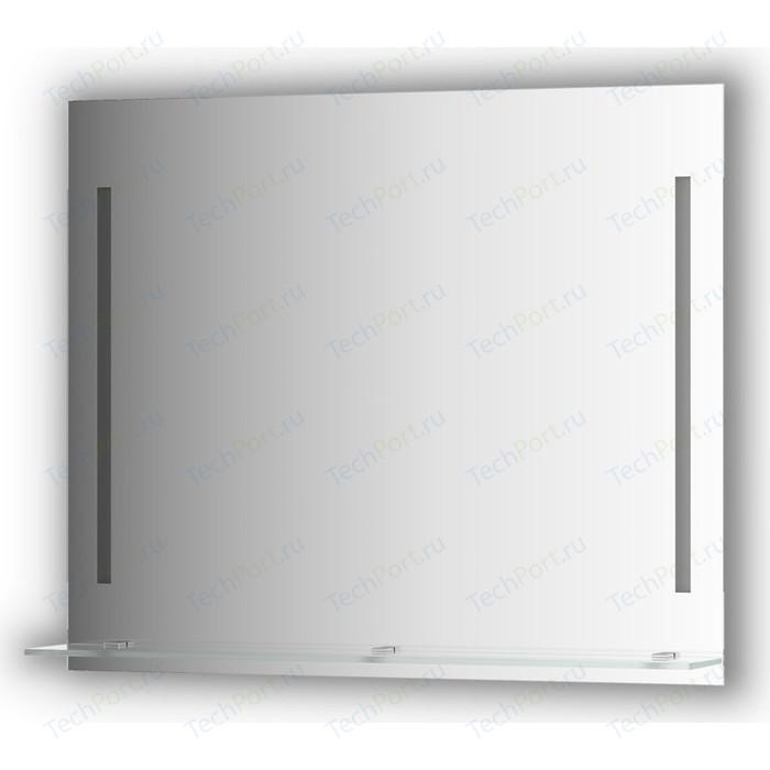 Зеркало с полкой Evoform Ledline-S 2-мя светильниками 11 W 90x75 см (BY 2165)