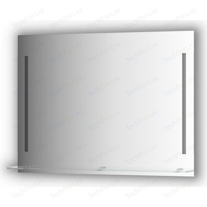 Зеркало с полкой Evoform Ledline-S 2-мя светильниками 11 W 100x75 см (BY 2166)