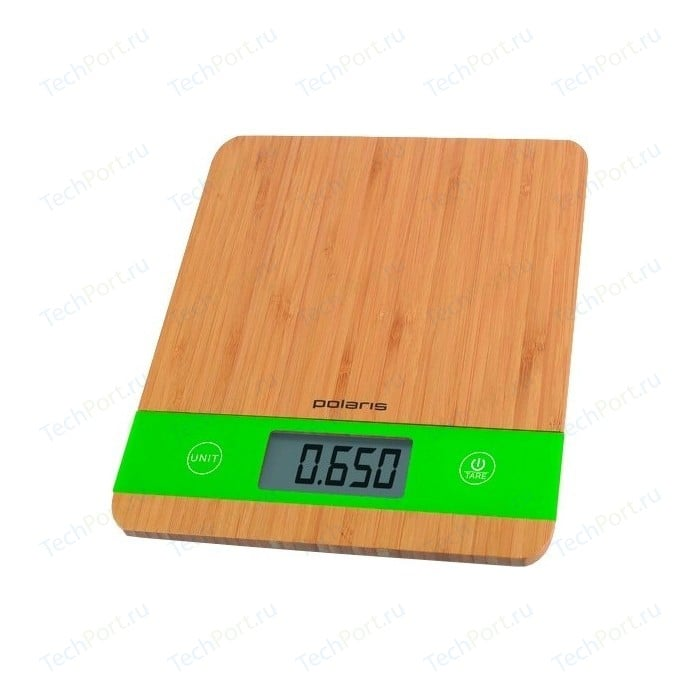 Весы кухонные Polaris PKS 0545D Bamboo