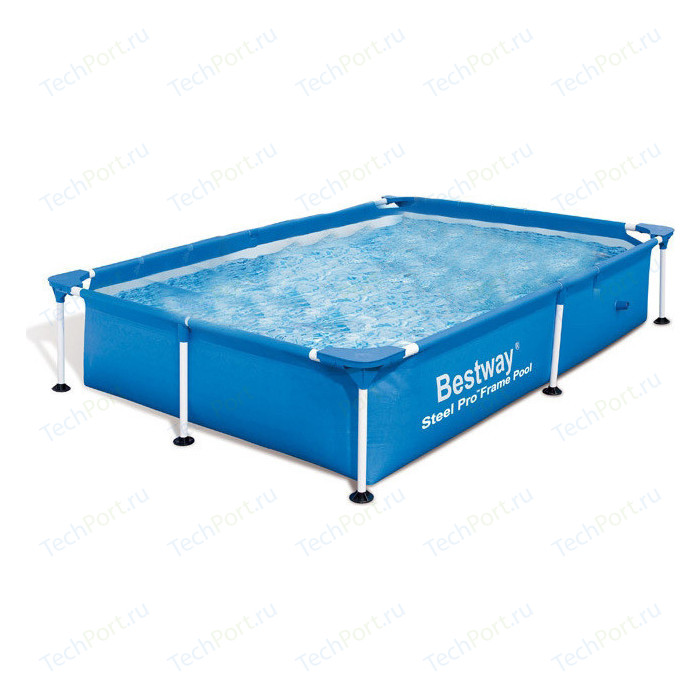 Каркасный бассейн Bestway 56401 BW прямоугольный 221х150х43 см