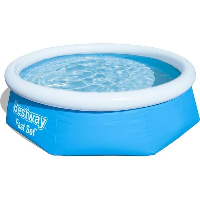 Надувной бассейн Bestway 57265 BW с надувным бортом 244х66 см