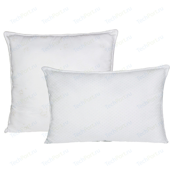 подушка goodnight двухкамерная шёлк искусcтвенный лебяжий пух микрофибра 70х70 Подушка Ecotex Лебяжий пух-Комфорт 50х70 (4607132574728)