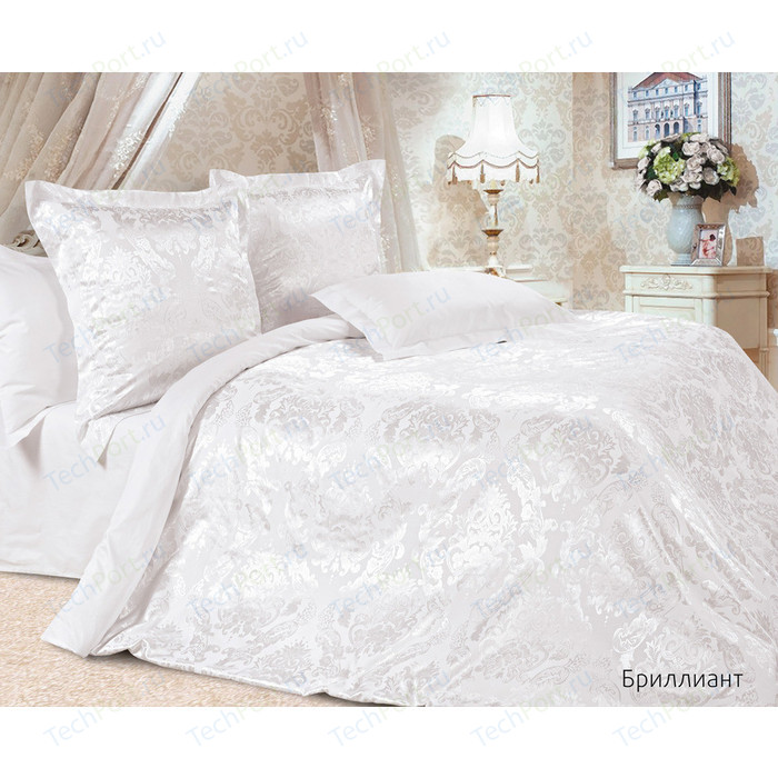 цена Комплект постельного белья Ecotex Евро, сатин-жаккард, Бриллиант (4670016950215) онлайн в 2017 году