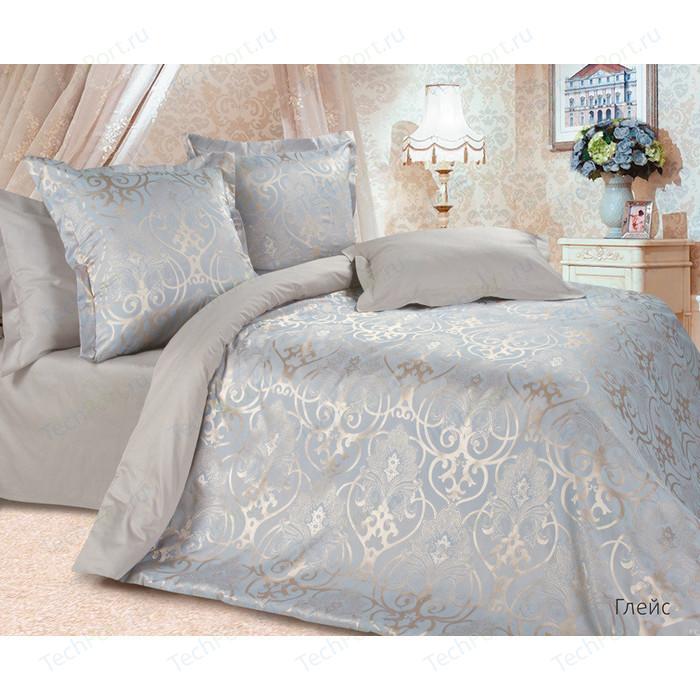 цена Комплект постельного белья Ecotex Семейный, сатин-жаккард, Глейс (4670016956682) онлайн в 2017 году