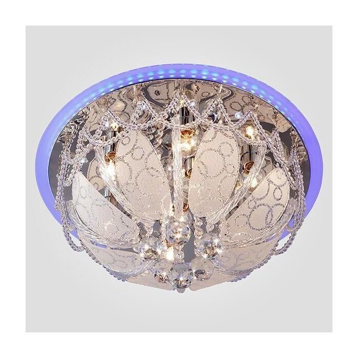 Потолочный светильник Eurosvet 80100/8 хром/голубой потолочный светильник евросвет elipse 60083 8 хром