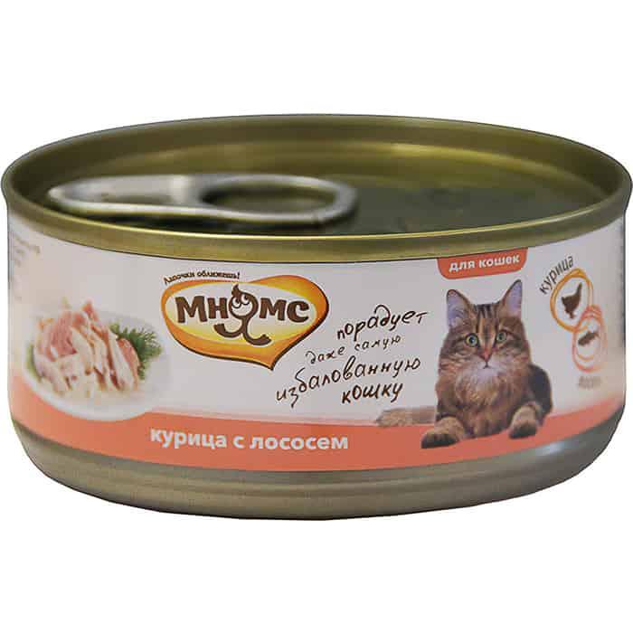 Консервы Мнямс Курица с лососем в нежном желе для кошек 70г
