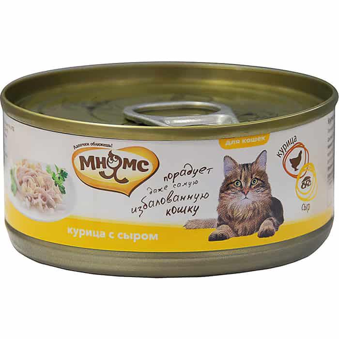 Консервы Мнямс Курица с сыром в нежном желе для кошек 70г