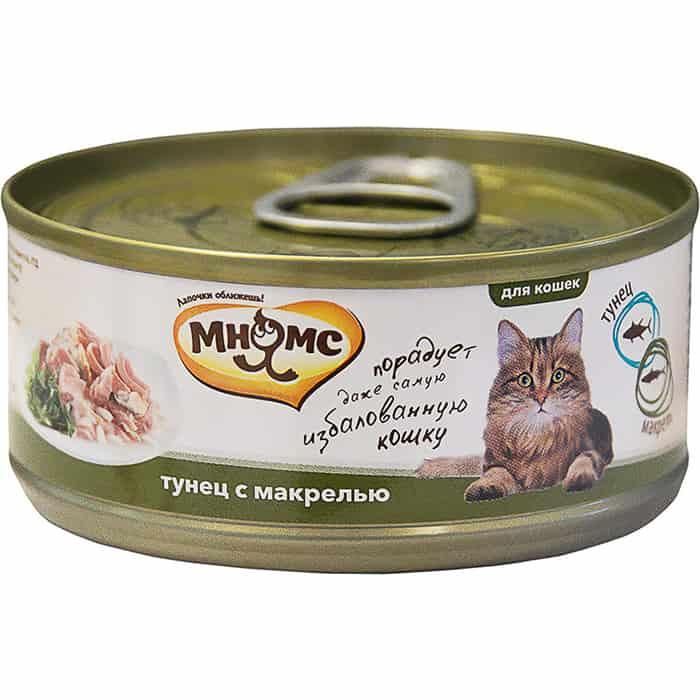 Консервы Мнямс Тунец с макрелью в нежном желе для кошек 70г