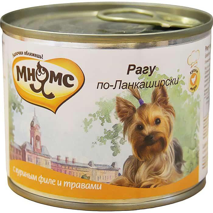 Консервы Мнямс Рагу по-Ланкаширски с куриным филе и травами для собак 200г