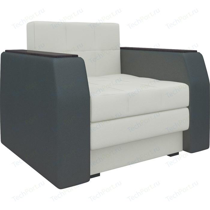 Фото - Кресло-кровать АртМебель Атлант эко-кожа бело-черный диван еврокнижка артмебель атлант т эко кожа бело черный