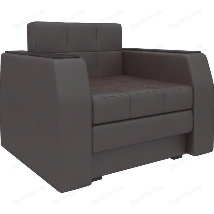 Кресло-кровать Мебелико Атлант эко-кожа коричневый