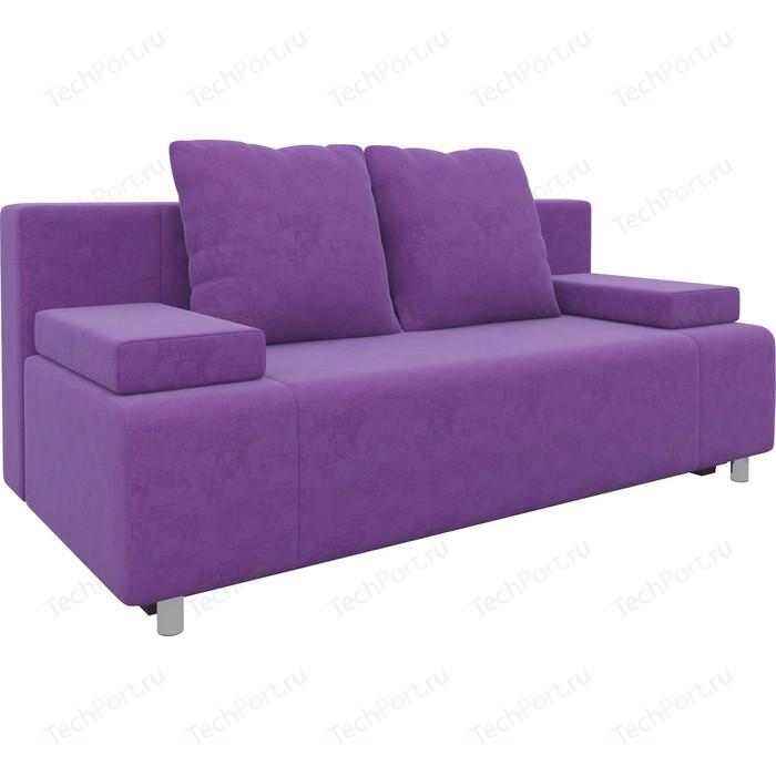 Диван-еврокнижка АртМебель Чарли микровельвет фиолетовый диван еврокнижка артмебель чарли люкс микровельвет фиолетовый