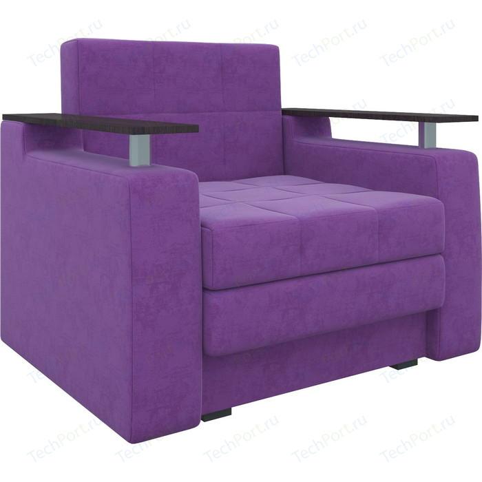 Кресло-кровать АртМебель Комфорт микровельвет фиолетовый
